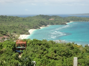 beautiful views from the top of the peak in Boracay, Philippines...rough ride to the top, but fun going down