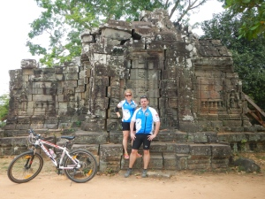 riding through the jungles, villages and temples of Angkor Wat, Cambodia